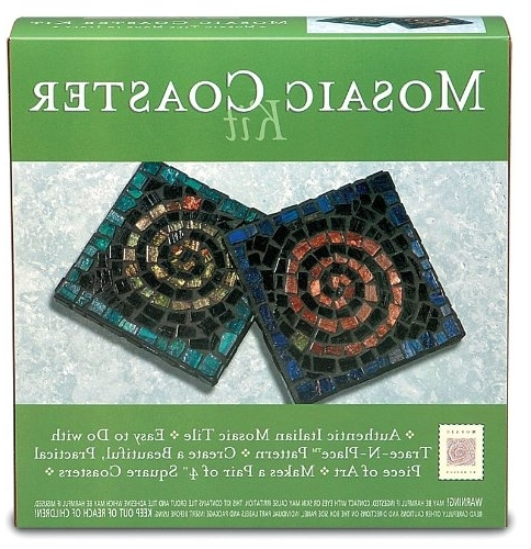 Well Known Mosaic Art Kits For Adults Within Amazon: Mosaic Mercantile Mosaic Coaster Kit (View 14 of 15)