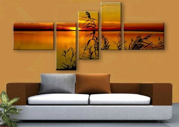 Well Known Multi Canvas Wall Art Inside Multi Panel Canvas Print.split One Photo Into Five Panels (View 15 of 15)