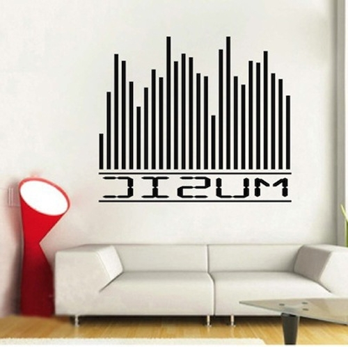 Well Known Music Themed Wall Art For Music Equalizer Wall Musical Wall Decor On Wall Decor Stickers (View 2 of 15)