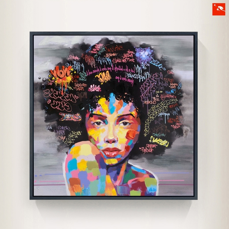 Well Known New Graffiti Street Wall Art Abstract Modern African Women Portrait For Abstract African Wall Art (View 14 of 15)