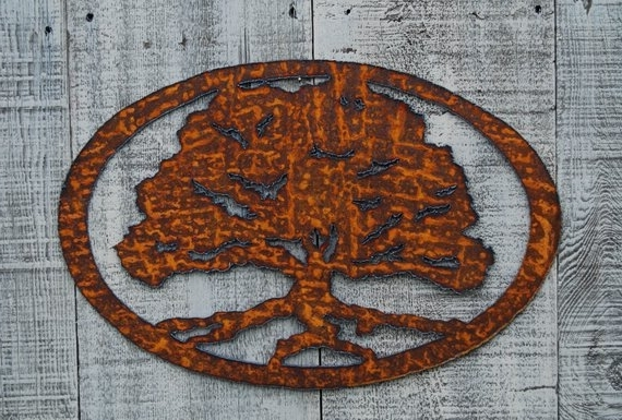 Well Known Oak Tree Metal Wall Art With Regard To Oak Tree Rusty Metal Wall Art (View 15 of 15)