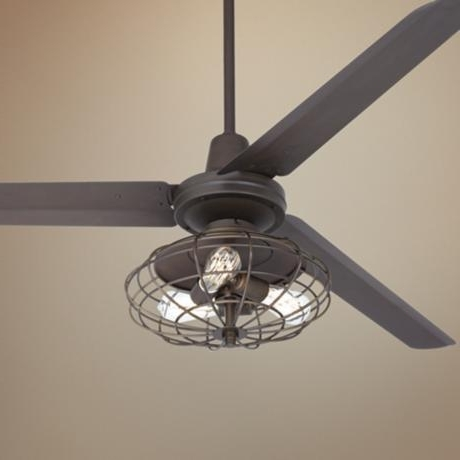 Well Known Outdoor Caged Ceiling Fans With Light With Outdoor Caged Ceiling Fan With Light – Adamhosmer (View 13 of 15)