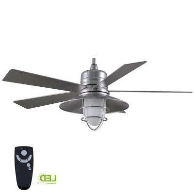 Well Known Outdoor Ceiling Fan With Brake With Wet Rated – Ceiling Fans – Lighting – The Home Depot (View 10 of 15)
