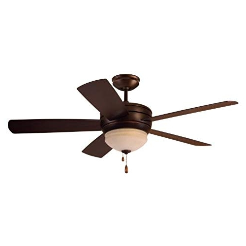 Well Known Outdoor Ceiling Fan With Light Wet Rated: Amazon Regarding High Output Outdoor Ceiling Fans (View 6 of 15)