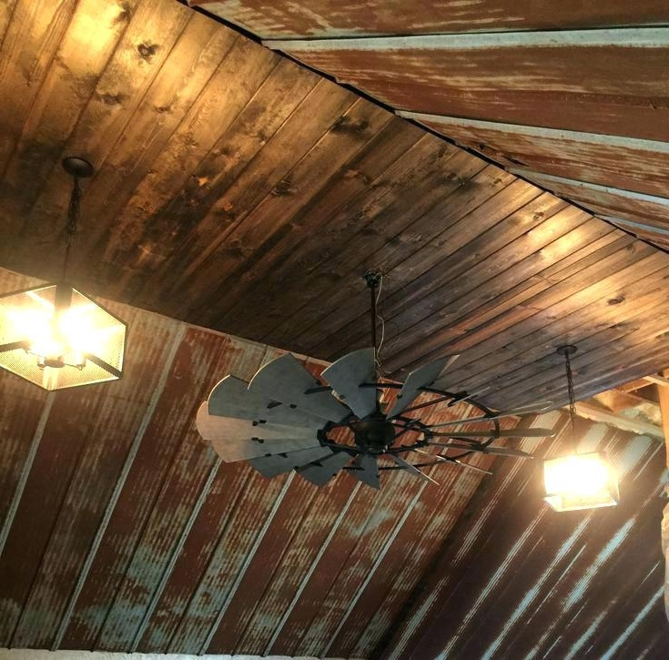 Well Known Outdoor Ceiling Fans For Barns For Rustic Looking Ceiling Fans Rustic Looking Outdoor Ceiling Fans (View 12 of 15)