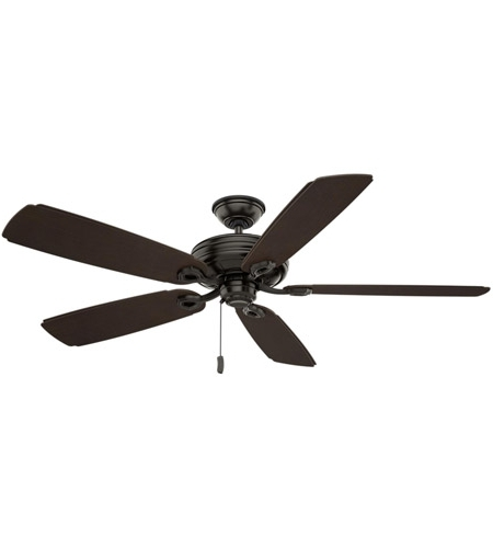 Well Known Outdoor Ceiling Fans With Plastic Blades For Casablanca 55074 Charthouse 60 Inch Noble Bronze With Reversible (View 13 of 15)