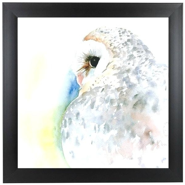 Well Known Owl Framed Wall Art Owl Portrait Framed Wall Art Kids Room Furniture Within Owl Framed Wall Art (View 15 of 15)