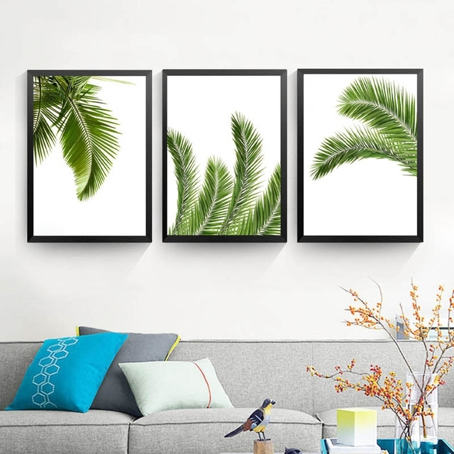 Well Known Palm Leaf Print,tropical Print, Printable Art Canvas Painting, Home Regarding Palm Leaf Wall Art (View 14 of 15)