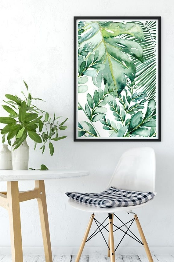 Well Known Palm Leaf Wall Art Within Banana Leaf Wall Art, Banana Leaf Decor, Palm Leaf Art Print, Palm (View 15 of 15)