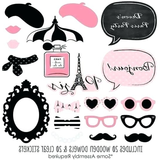 Well Known Paris Themed Stickers With Regard To Paris Themed Stickers Theme Stickers Travel Stickers Craft Supply (View 15 of 15)