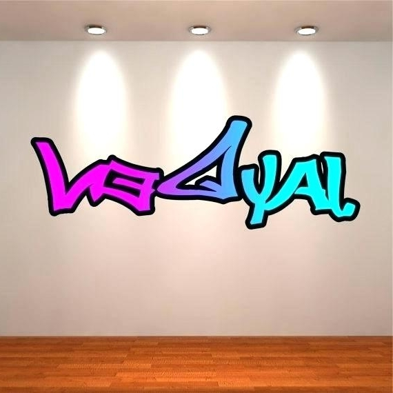 Well Known Personalized Graffiti Wall Art Regarding Personalized Graffiti Wall Art – Dannyjbixby (View 4 of 15)