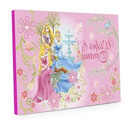 Well Known Princess Canvas Wall Art Intended For Amazon: Disney Princess Led Light Up Canvas Wall Art: Toys & Games (View 10 of 15)