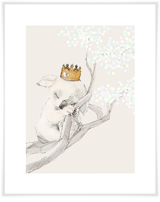 Well Known Princess Canvas Wall Art Within Sleeping Koala Princess, Prince & Princess Canvas Wall Art (View 9 of 15)