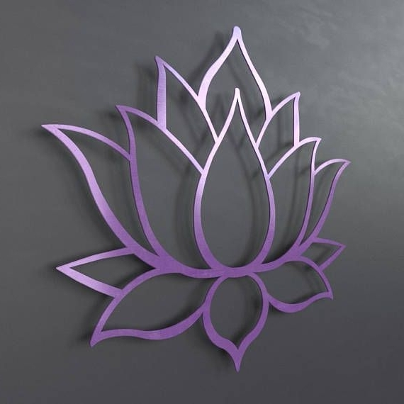 Well Known Purple Flower Metal Wall Art In Check Out This Item In My Etsy Shop Https://www (View 12 of 15)
