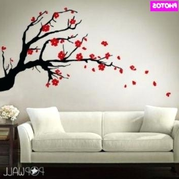 Well Known Red Cherry Blossom Wall Art With Regard To Cherry Blossoms Wall Art – Chastaintavern (View 15 of 15)