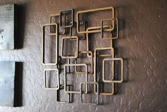 Well Known Retro Modern Metal Sculpture Art Abstract Mid Century Contemporary Intended For Abstract Iron Wall Art (View 4 of 15)