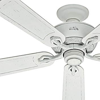 Well Known Rust Proof Outdoor Ceiling Fans Within Hunter Fan 52 Inch Outdoor Ceiling Fan In Cottage White With Rust (View 15 of 15)