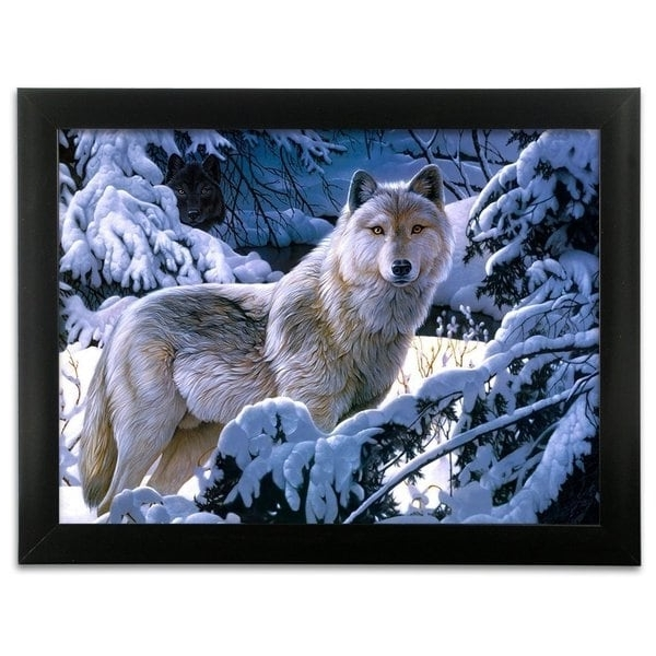 Well Known Shop White Snow Wolf Framed 3D Wall Art – Free Shipping On Orders Intended For Wolf 3D Wall Art (View 12 of 15)
