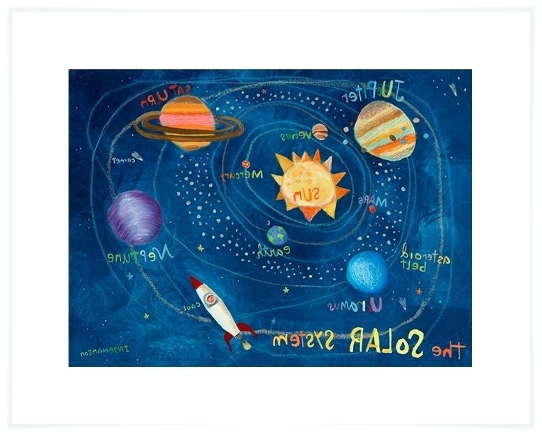 Well Known Solar System Wall Art Solar System Wall Art Art Print Beetling Solar Pertaining To 3D Solar System Wall Art Decor (View 11 of 15)