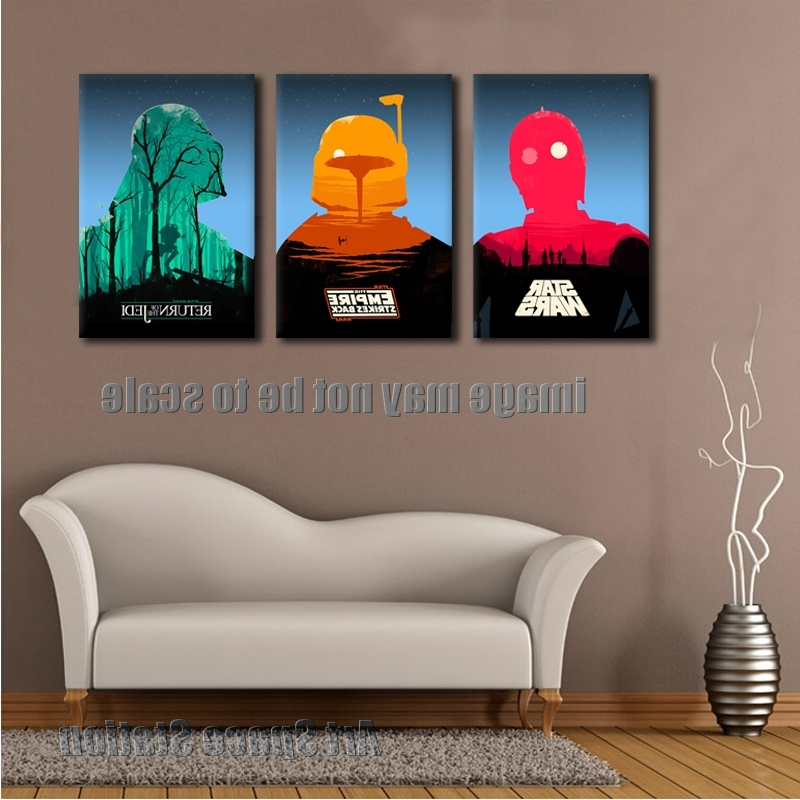 Well Known Star Wars Empire Movie Poster Modern Abstract Canvas Print, Star Throughout Abstract Wall Art Posters (View 10 of 15)
