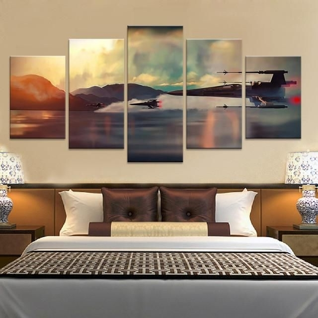 Well Known Star Wars X Wings Over Water 5 Piece Canvas Wall Art Print – Limited Pertaining To Limited Edition Canvas Wall Art (View 14 of 15)