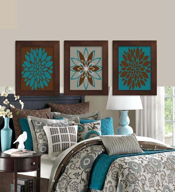 Well Known Teal Home Decor Home Decor Aqua And Teal And Brown Wall Decor Wall In Turquoise And Brown Wall Art (View 10 of 15)