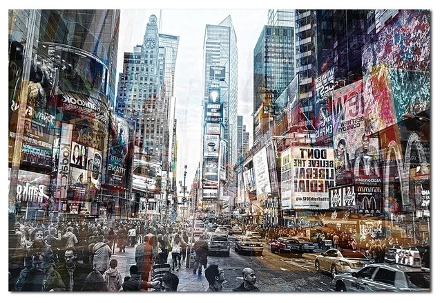Well Known Tempered Glass Wall Art, 3D Times Square New York 2 – Traditional With Regard To New York 3D Wall Art (View 14 of 15)