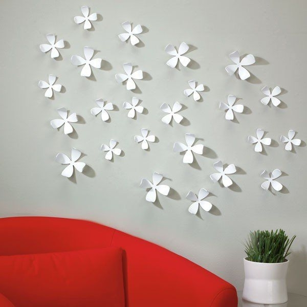 Well Known Umbra+Wallflower+White+Wall+Decor+ +Bring+Your+Wall+To+Life+With+The Pertaining To Umbra 3D Wall Art (View 14 of 15)