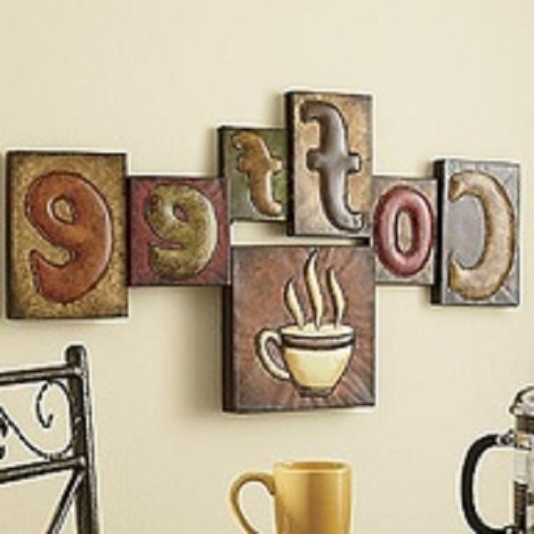 Well Known Utilize Coffee Décor For Kitchen: Coffee Pictorial Wall Hangings Inside Coffee Theme Metal Wall Art (View 12 of 15)