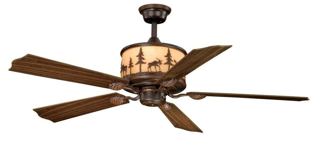 "Well Known Vaxcel Fn56305Bbz Yellowstone Ceiling Fan, 56"", Burnished Bronze In 20 Inch Outdoor Ceiling Fans With Light (View 14 of 15)"