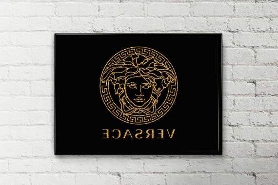 Well Known Versace Wall Art Throughout Versace Poster Printable Art Girl's Room Decor Fashion Wall Art (View 13 of 15)