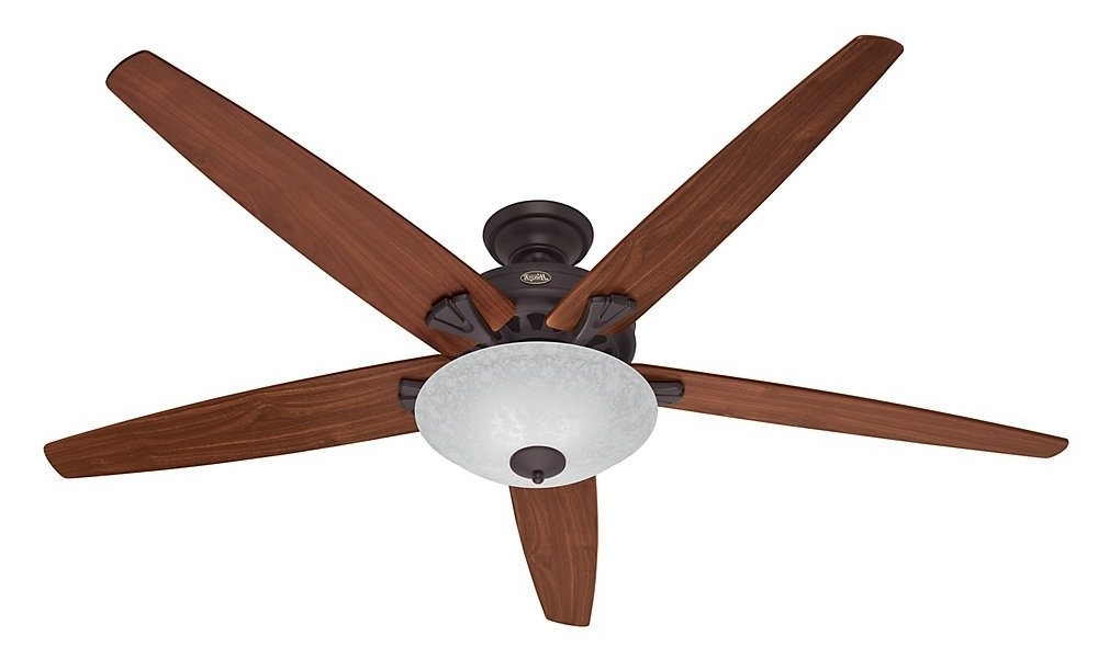 Well Known Vertical Outdoor Ceiling Fans For Hunter 55042 Stockbridge 70 Inch Ceiling Fan With Five Walnut/medium (View 12 of 15)