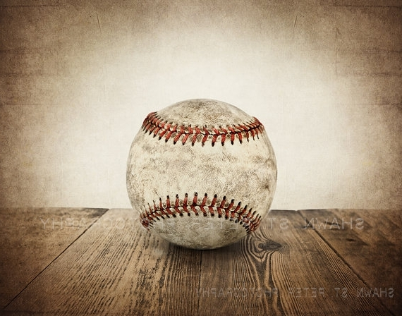 Featured Photo of Vintage Baseball Wall Art