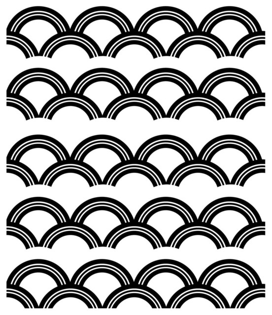 Well Known Wall Art Deco Decals Pertaining To Art Deco Pattern Wall Decal – Contemporary – Wall Decals Dana (View 2 of 15)