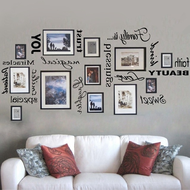 Well Known Wall Art Decor For Family Room Intended For Free Shipping Family Is Vinyl Wall Lettering Quote Wall Art / Decor (View 14 of 15)