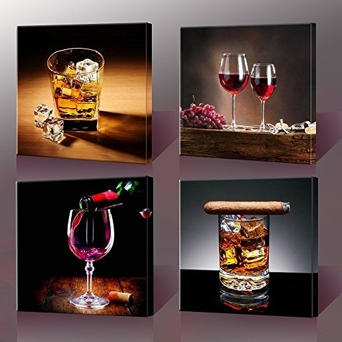 Well Known Wall Art For Bar Area Within Lofty Idea Bar Wall Art Best Interior Home Decor Amazon Com Canvas  (View 13 of 15)