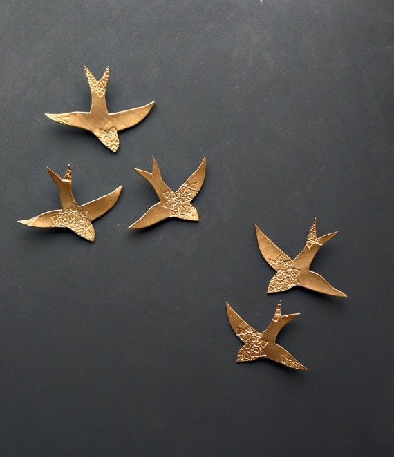 Well Known Wall Art Ideas Design : Porcelain Swallows Ceramic Bird Wall Art With Regard To Ceramic Bird Wall Art (View 6 of 15)