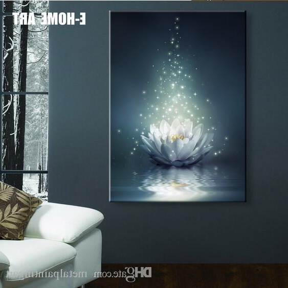 Well Known Wall Art With Lights Within Led Lights Wall Art Canvas Spray Painting Light Up Framed Artwork (View 15 of 15)