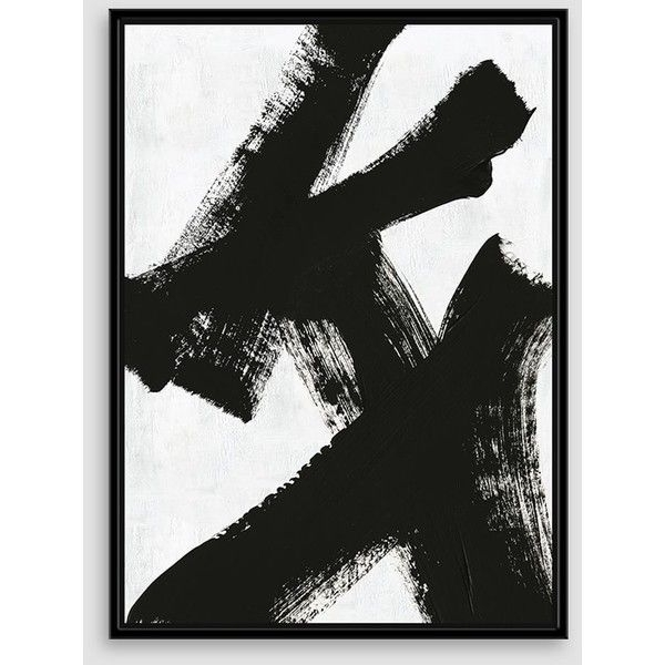 "Well Known West Elm Framed Print, Double X, 29"" X 40"" (470 Cad) ❤ Liked On In West Elm Abstract Wall Art (View 11 of 15)"