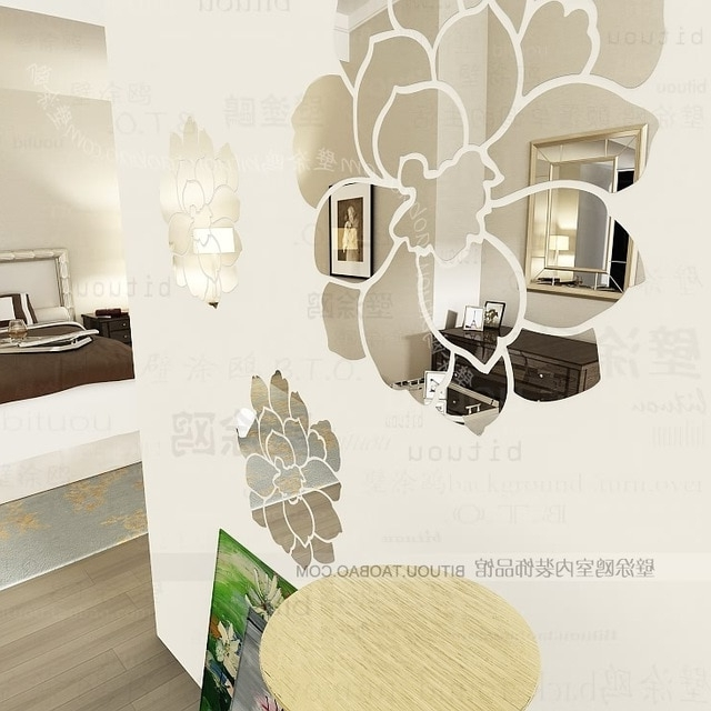 Well Known Wholesale Luxury Ikea Diy Acrylic 3D Wall Mirror Stickers Mirror Throughout 3D Wall Art Wholesale (View 8 of 15)