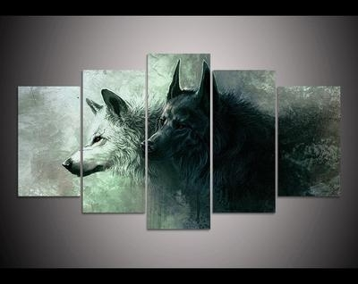Well Known Wolf 3D Wall Art With Regard To 5 Piece 3D Wolf Wall Art – Titleseventy (View 11 of 15)