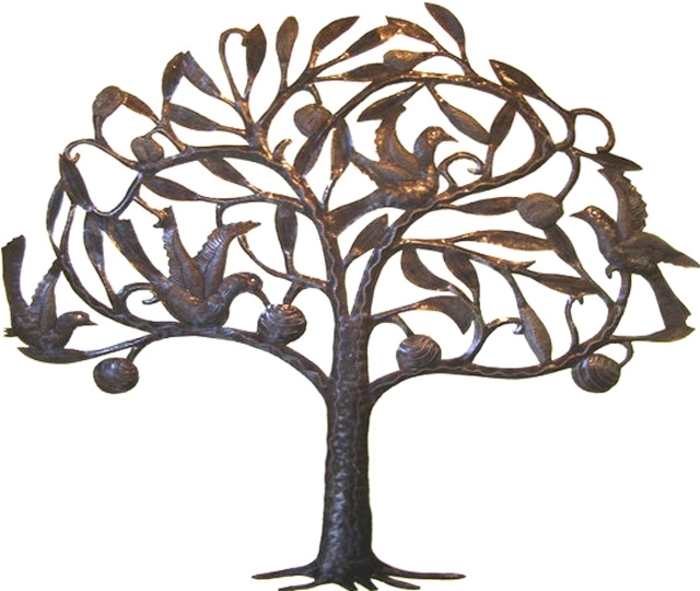 Well Known Wrought Iron Tree Wall Art Enchanting Iron Tree Wall Decor Trees With Wrought Iron Tree Wall Art (View 6 of 15)