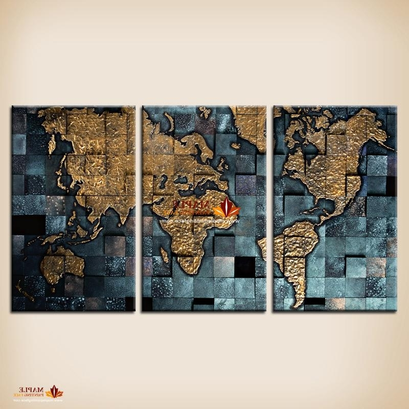 Featured Photo of Abstract World Map Wall Art