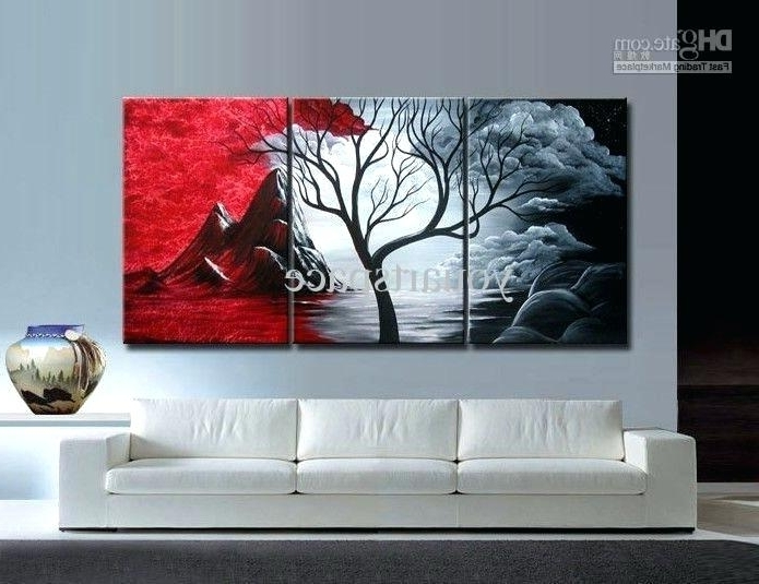Well Liked 3 Piece Modern Wall Art Within Large Three Piece Wall Art Large Size 3 Piece Modern Wall Art (View 9 of 15)