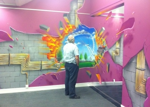 Well Liked 3D Wall Art Illusions With 3D Wall Art – Media Gang (View 4 of 15)