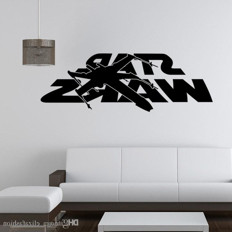Well Liked 3D Wall Art Words Inside Star Wars Wall Decals Black Words Star Wars Logo Wall Art Mural (View 9 of 15)