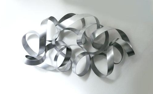 Well Liked Abstract Metal Sculpture Wall Art For Abstract Metal Wall Sculpture Wall Art Designs Silver Metal Wall Art (View 14 of 15)