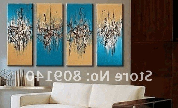 Well-liked Abstract Wall Art For Office with Free Shipping Blue Orange Abstract Oil Painting Canvas High Quality