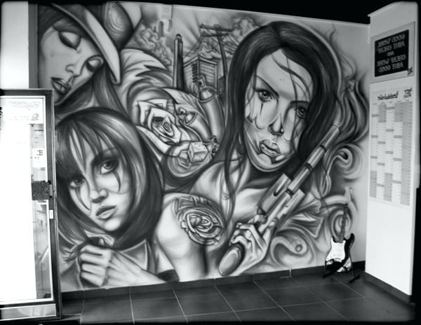 Well Liked Airbrush Wall Art Throughout Wall Art Tattoo Muralroman Showroom Airbrush Year Place Showroom (View 13 of 15)