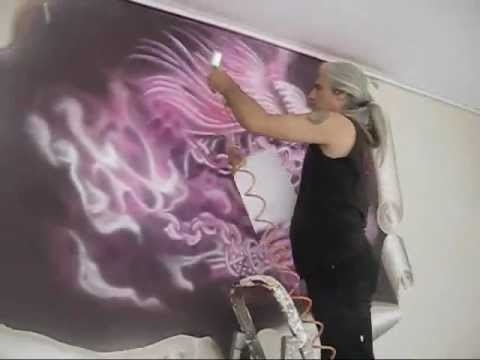 Well Liked Airbrush Wall Art Within Airbrush Wall Panting Artistsadık Işbilen – Youtube (View 14 of 15)